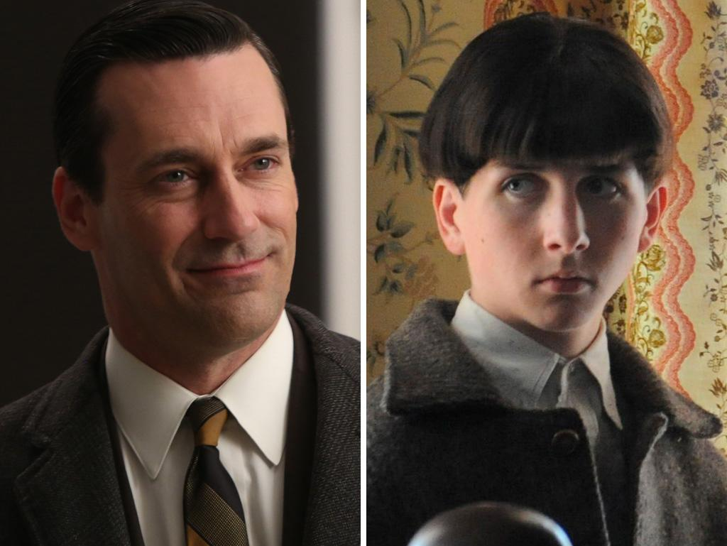 Maybe it's supposed to fit in with the show's theme of transformation, but Brandon Killham (as handsome as he is) doesn't even come close to Jon Hamm. That bowl cut is too distracting.