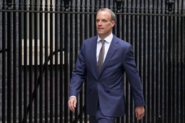 Dominic Raab was removed from the Foreign Office during the reshuffle