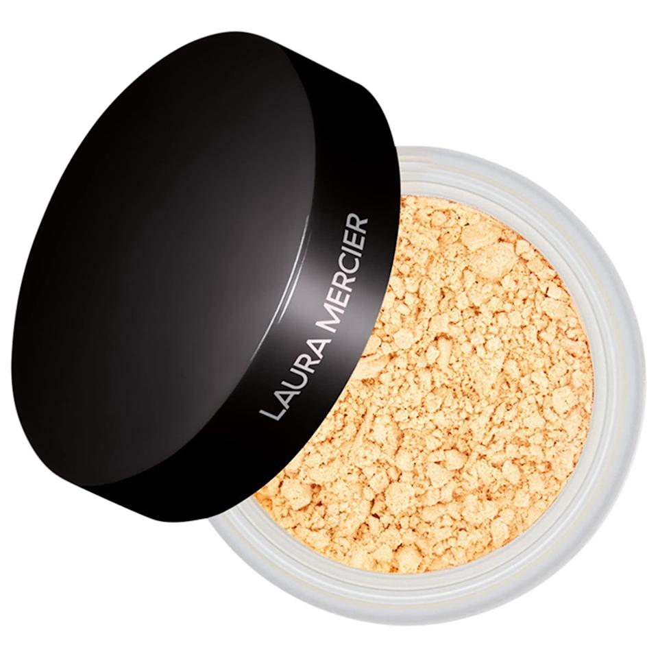 "<p><strong>Laura Mercier</strong></p><p>sephora.com</p><p><strong>$23.00</strong></p><p><a href=""https://go.redirectingat.com?id=74968X1596630&url=https%3A%2F%2Fwww.sephora.com%2Fproduct%2Ftranslucent-loose-setting-powder-P109908&sref=https%3A%2F%2Fwww.goodhousekeeping.com%2Fbeauty-products%2Fg35745893%2Fbest-face-powders%2F"" rel=""nofollow noopener"" target=""_blank"" data-ylk=""slk:Shop Now"" class=""link rapid-noclick-resp"">Shop Now</a></p><p>This setting powder has a loyal following — and for good reason. ""This setting powder is amazing,"" says one reviewer. ""<strong>This powder goes on smoothly and evenly. It prevents caking under my eyes and is not drying</strong>. If you want your makeup to be flawless, look no further!"" </p>"