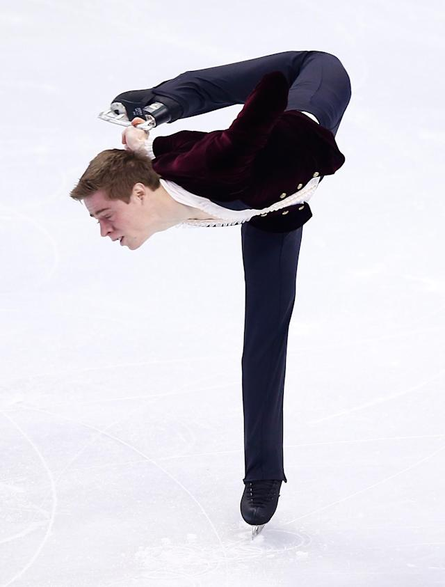 BOSTON, MA - JANUARY 10: Richard Dornbush skates in the short program during the 2014 Prudential U.S. Figure Skating Championships at TD Garden on January 10, 2014 in Boston, Massachusetts. (Photo by Jared Wickerham/Getty Images)