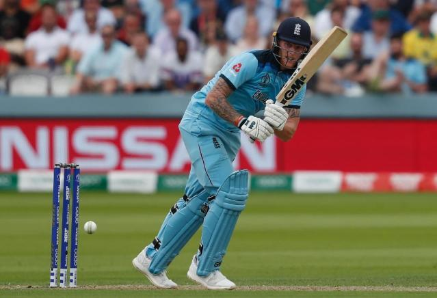 Ben Stokes scored 89 in England's World Cup defeat to Australia (AFP Photo/Adrian DENNIS)