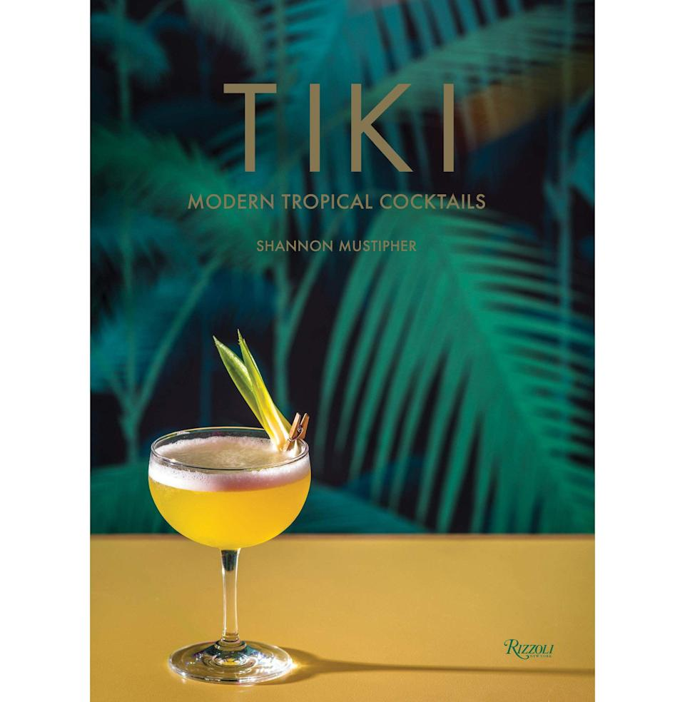 """<p><strong>By Shannon Mustipher</strong></p><p>bookshop.org</p><p><strong>$26.96</strong></p><p><a href=""""https://bookshop.org/books/tiki-modern-tropical-cocktails/9780789335548"""" rel=""""nofollow noopener"""" target=""""_blank"""" data-ylk=""""slk:Buy"""" class=""""link rapid-noclick-resp"""">Buy</a></p><p>Tiki was largely popularized in the U.S. by two white dudes, Donn Beach and Trader Vic. Today, it is the epicenter of cultural appropriation debate in the drinks scene. That is no reason not to learn a <em>modern</em> approach to tiki cocktail-making. Educate yourself with Shannon Mustipher's gorgous cocktail book, which feature classic and original recipes, and tasting notes on Caribbean rum. When summer's hottest days hit, a tropical drink beckons. <em>—S.R.</em></p>"""