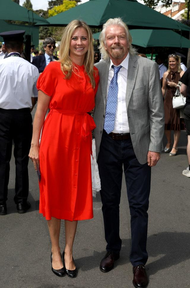 Sir Richard Branson with daughter Holly Branson at Wimbledon (Philip Toscano/PA)