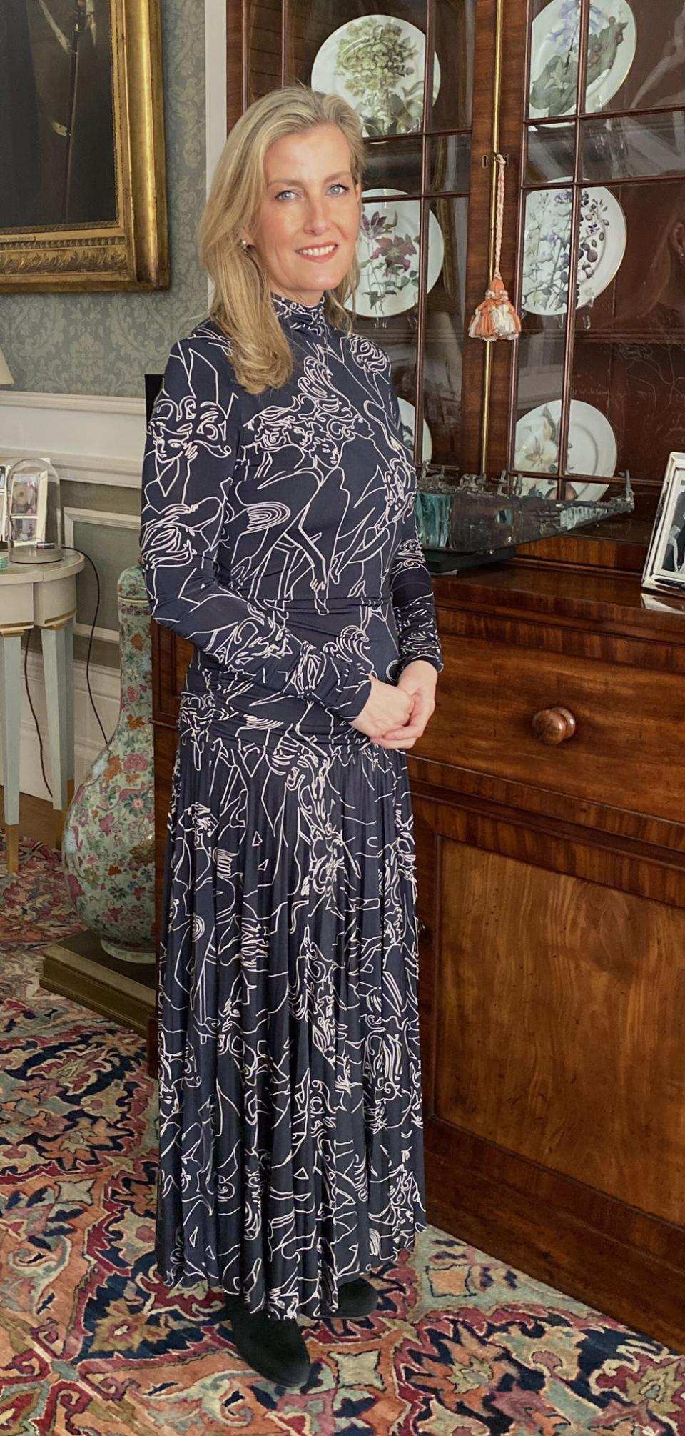 The countess wore a Victoria Beckham dress for the event. (Royal Family)