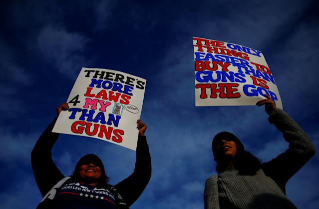 <p>People arrive before students and gun control advocates hold the March for Our Lives event demanding stricter gun control at a rally in Washington, D.C., March 24, 2018. (Photo: Eric Thayer/Reuters) </p>