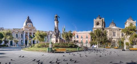 The central plaza of La Paz - Credit: GETTY