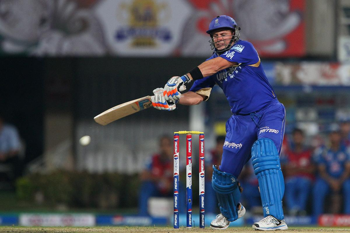 Brad Hodge during the 2nd Qualifying match of the Pepsi Indian Premier League between The Rajasthan Royals and the Mumbai Indians  held at the Eden Gardens Stadium in Kolkata on the 24th May 2013..Photo by Ron Gaunt-IPL-SPORTZPICS      ..Use of this image is subject to the terms and conditions as outlined by the BCCI. These terms can be found by following this link:..https://ec.yimg.com/ec?url=http%3a%2f%2fwww.sportzpics.co.za%2fimage%2fI0000SoRagM2cIEc&t=1498714879&sig=aI.8BX4x7XfitJ4Kojoc2Q--~C