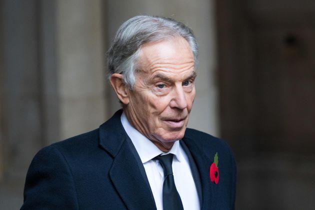 epa08807273 Britain's former Prime Minister Tony Blair walks through Downing Street to attend the National Service of Remembrance, on Remembrance Sunday, at The Cenotaph in Westminster, London, Britain, 08 November 2020. Remembrance Sunday events are held across the country as the UK remembers and honours those who have sacrificed themselves in two world wars and other conflicts.  EPA/VICKIE FLORES (Photo: VICKIE FLORESEPA)
