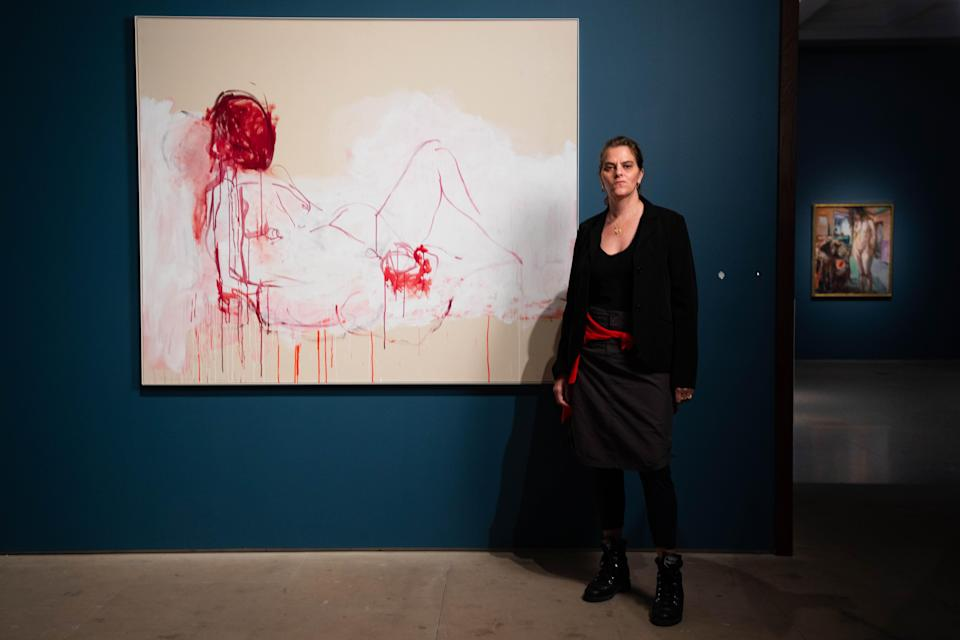 Tracey Emin at her new Royal Academy show (David Parry/ Royal Academy of Arts)