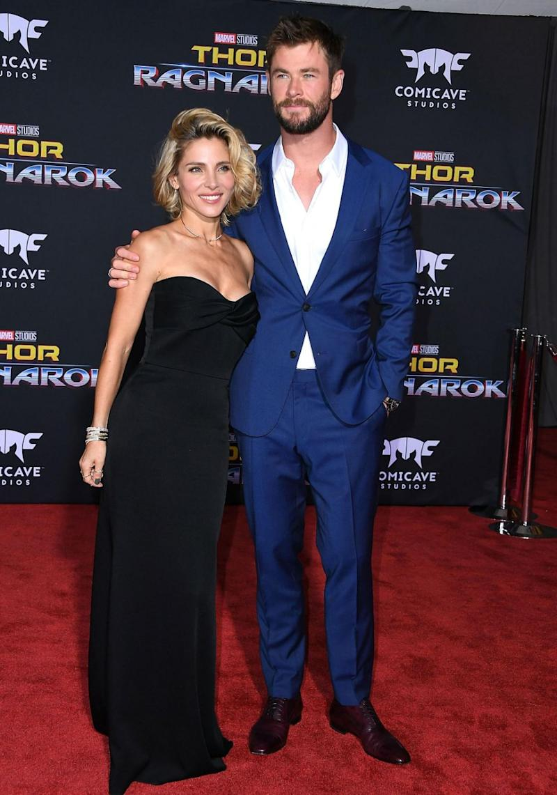 All eyes were on Chris Hemsworth and wife Elsa Pataky at the Thor: Ragnarok in Los Angeles on Tuesday night. Source: Getty
