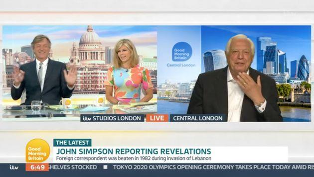 Richard and Kate interviewing John Simpson on GMB (Photo: ITV)