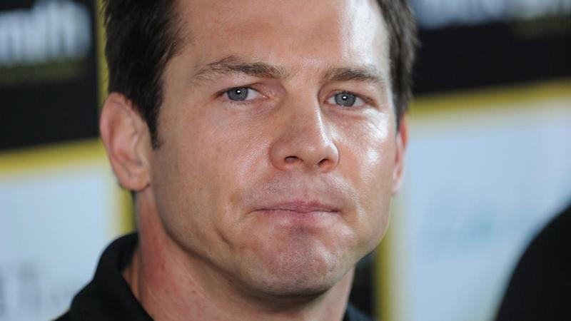 Ben Cousins has reportedly been hospitalised after a bizarre incident on Perth's Canning Highway.