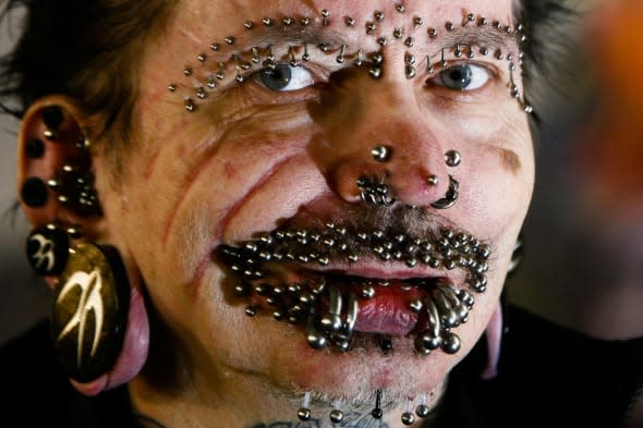 world's most pierced man stopped from entering Dubai