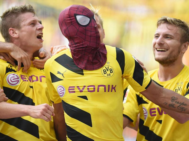 Aubameyang has a history of masked celebrations (Getty)