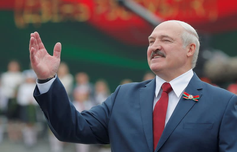 FILE PHOTO: Belarusian President Lukashenko takes part in celebrations of Independence Day in Minsk