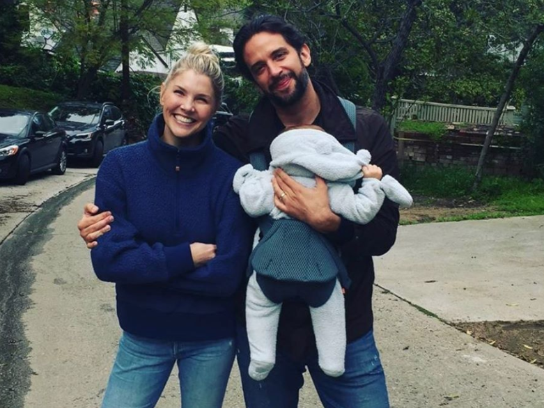 Amanda Kloots and Nick Cordero with their son, Elvis, in a family photo taken before he became ill: Amanda Kloots/Instagram