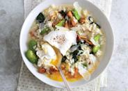 "Risotto with mushrooms—a classic combo. Add a poached egg and you've really got our attention. <a href=""https://www.bonappetit.com/recipe/spring-vegetable-risotto-with-poached-eggs?mbid=synd_yahoo_rss"" rel=""nofollow noopener"" target=""_blank"" data-ylk=""slk:See recipe."" class=""link rapid-noclick-resp"">See recipe.</a>"
