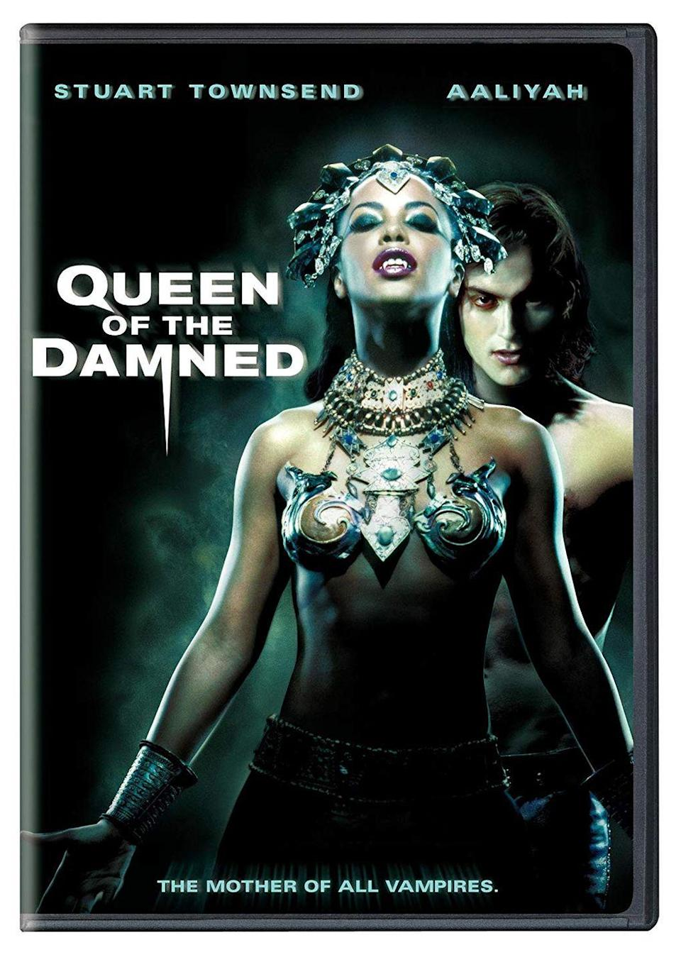 """<p><a class=""""link rapid-noclick-resp"""" href=""""https://www.amazon.com/Queen-Damned-Stuart-Townsend/dp/B004YSDTF2?tag=syn-yahoo-20&ascsubtag=%5Bartid%7C10050.g.22103622%5Bsrc%7Cyahoo-us"""" rel=""""nofollow noopener"""" target=""""_blank"""" data-ylk=""""slk:STREAM NOW"""">STREAM NOW</a></p><p>Aaliyah played the queen of all vampires, who's hell-bent on making undead rockstar Lestat (Stuart Townsend) her king.</p>"""