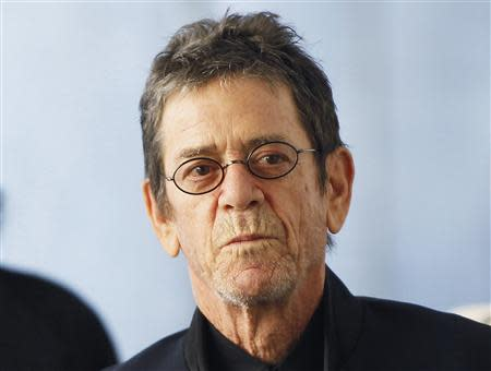 """File photo of musician Lou Reed arriving for the Metropolitan Opera's premiere of """"Le Comte Ory"""" at Lincoln Center in New York"""