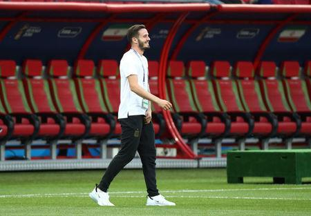 Soccer Football - World Cup - Group B - Iran vs Spain - Kazan Arena, Kazan, Russia - June 20, 2018 Spain's Saul Niguez before the match REUTERS/Sergio Perez