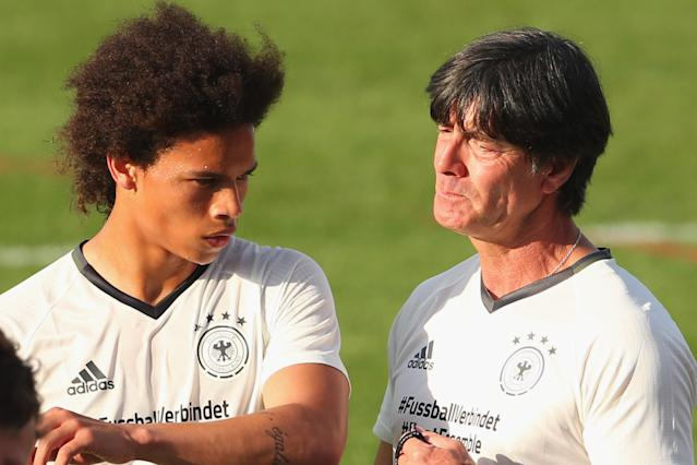 Leroy Sane could have given Germany a unique dimension at the 2018 World Cup. Instead, manager Joachim Low cut the Manchester City winger. (Getty)