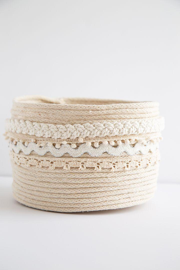 "<p>For an attractive basket you can use over and over again (toys! plants! gloves!), gather sturdy cotton rope, some trimming, and your hot glue gun. </p><p>Get the tutorial at <a href=""https://www.aliceandlois.com/diy-rope-planter-basket/"" rel=""nofollow noopener"" target=""_blank"" data-ylk=""slk:Alice and Lois."" class=""link rapid-noclick-resp"">Alice and Lois.</a></p><p><a class=""link rapid-noclick-resp"" href=""https://go.redirectingat.com?id=74968X1596630&url=https%3A%2F%2Fwww.homedepot.com%2Fp%2FT-W-Evans-Cordage-7-32-in-x-100-ft-Evandale-Cotton-Clothesline-Hank-43-070%2F205326942&sref=https%3A%2F%2Fwww.oprahdaily.com%2Flife%2Fg30506642%2Feaster-basket-ideas%2F"" rel=""nofollow noopener"" target=""_blank"" data-ylk=""slk:SHOP ROPE"">SHOP ROPE</a></p>"