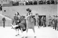 <p>The Rockefeller Center roller skating rink opens to the public. </p>
