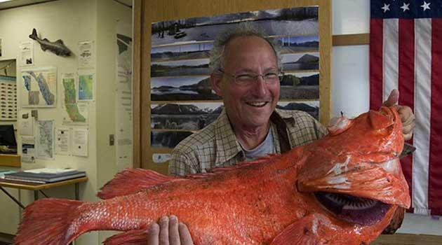 Henry Liebman with his 20-kilogram catch. Photo: AP