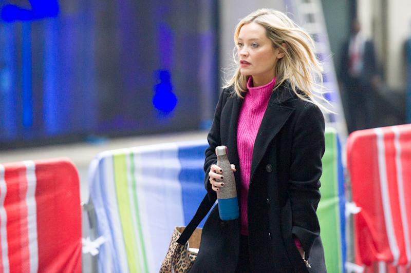 Laura Whitmore at BBC Broadcast House on November 24, 2019 in London, England. (Photo by Ollie Millington/Getty Images)