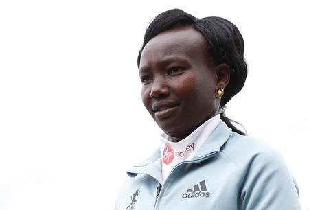 Athletics - London Marathon Preview Press Conference - The Tower Hotel, London, Britain - April 25, 2019 Kenya's Mary Keitany poses ahead of the London marathon Action Images via Reuters/Matthew Childs
