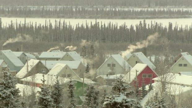 A file photo of Inuvik, N.W.T. in the winter. CanNor announced $400,500 toward a year-round farming project in the town, one of five initiatives to receive funding in N.W.T. (Philippe Morin/CBC - image credit)