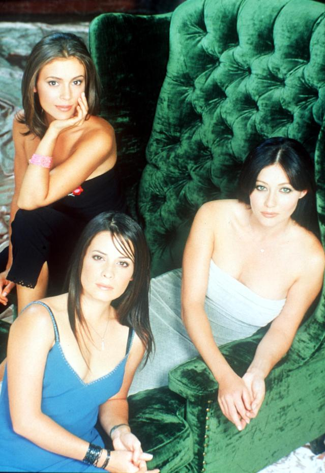 From left, Alyssa Milano, Holly Marie Combs, and Shannen Doherty on <em>Charmed</em> in 1999. (Photo: Online USA)