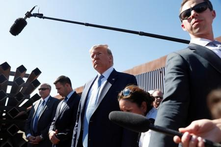 U.S. President Donald Trump visits a section of the U.S.-Mexico border wall in Otay Mesa