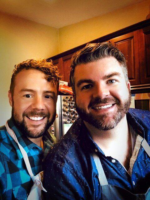 On the weekends, you can find Russell Buhr (right) in the kitchen cooking or baking for Will Murtaugh (left). (Photo: Courtesy of Will Murtaugh )
