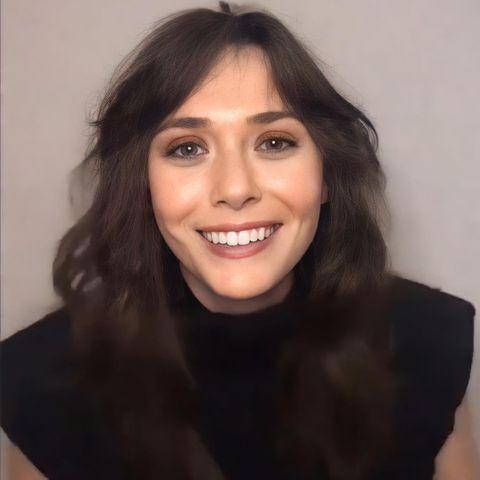 """<p>If there's one person that has proven they can pull off any hair shade, it's Elizabeth Olsen. The actress unveiled her new brunette bangs over a virtual launch event for Marvel's new 'The Falcon And The Winter Soldier' series in true lockdown style. Olsen's look channelled major 70s vibes with a feathered cheekbone-length fringe, tousled shag haircut and warm-toned eyeshadow. </p><p><a href=""""https://www.instagram.com/p/CMkozHtMici/"""" rel=""""nofollow noopener"""" target=""""_blank"""" data-ylk=""""slk:See the original post on Instagram"""" class=""""link rapid-noclick-resp"""">See the original post on Instagram</a></p>"""