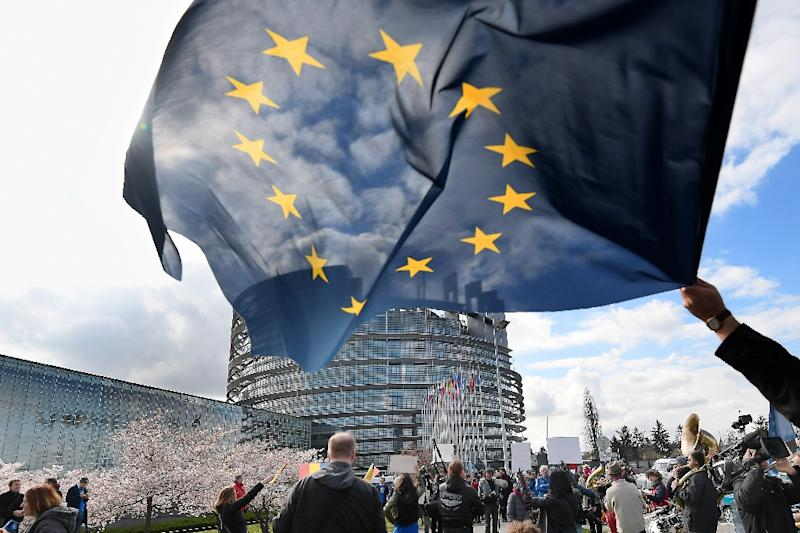 More than 400 million voters are eligible to elect 751 lawmakers to the European Parliament (AFP Photo/FREDERICK FLORIN)