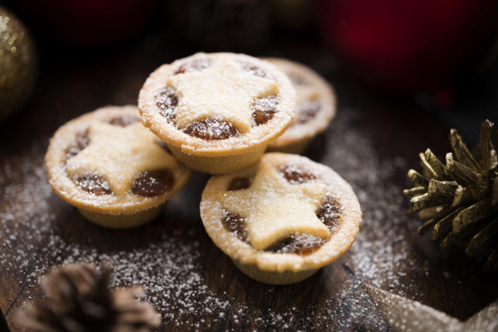 """<p>No Christmas is complete without a mince pie or two. And this festive season, make sure to check out the delicious recipe over on <a rel=""""nofollow noopener"""" href=""""http://www.goodtoknow.co.uk/recipes/137503/mince-pies-recipe"""" target=""""_blank"""" data-ylk=""""slk:Good To Know"""" class=""""link rapid-noclick-resp""""><em>Good To Know</em></a>.<br><br>For best results, prep on the 20th December and freeze until the big day. <em>[Photo: Getty]</em> </p>"""