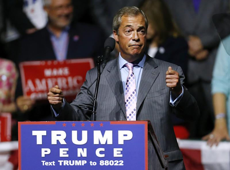 Tension between UK, US rises over far-right leader Farage