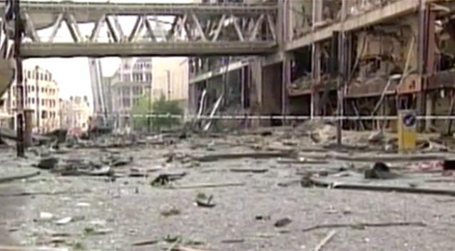 The 1996 bomb attack caused significant damage. Photo: 7 News