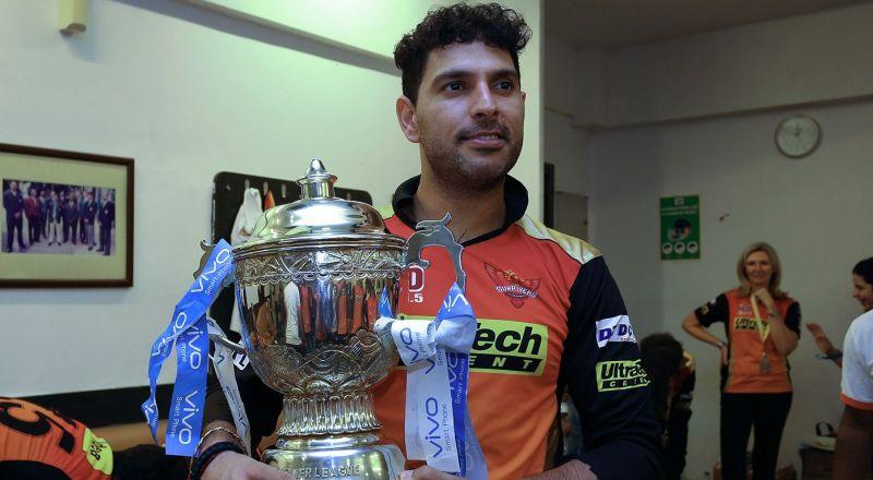 Yuvraj, who won his only IPL with Sunrisers Hyderabad in 2016, became the first ever player to score half-centuries for five different franchises