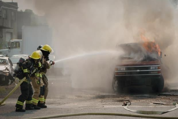 Women make up four per cent of firefighters across Canada and around three per cent in most Metro Vancouver communities, according to Camp Ignite organizers. (CBC News - image credit)