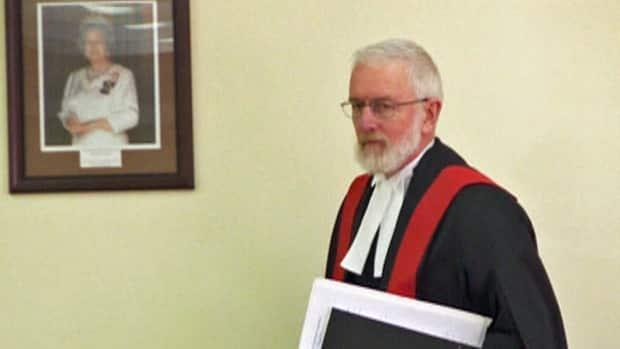 Judge John Joy is pictured in an undated file photo. A tribunal has reprimanded Joy, finding that his conduct was deserving of sanction, in the wake of complaints filed in 2014 by Legal Aid and Newfoundland and Labrador's director of public prosecutions. (CBC - image credit)