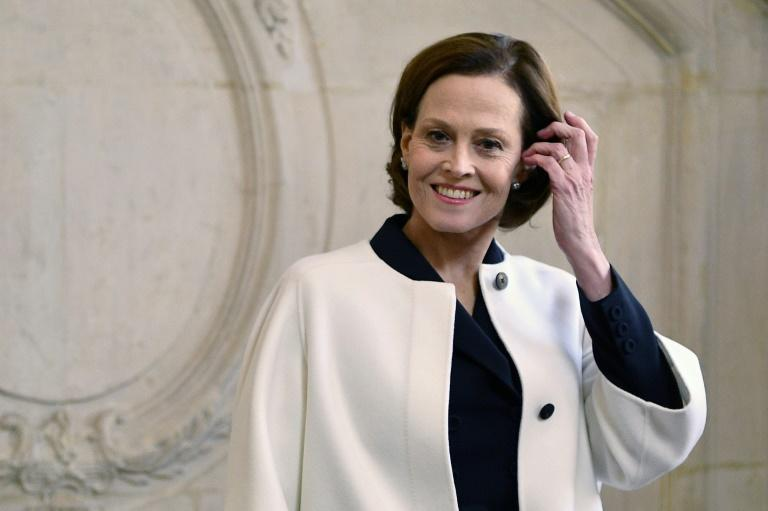 US actress Sigourney Weaver was among the stars in attendance (AFP Photo/Christophe ARCHAMBAULT)