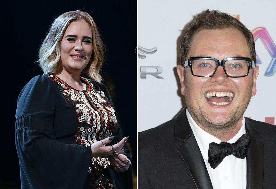 Best friends Adele and Alan Carr. (PA)
