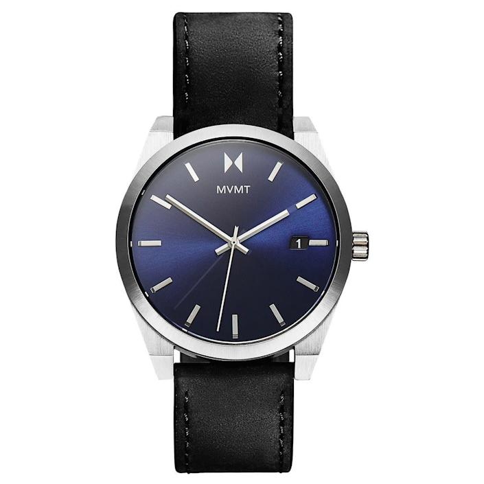 """<strong><a href=""""https://www.mvmtwatches.com/collections/best-sellers/products/nitro-blue"""" rel=""""nofollow noopener"""" target=""""_blank"""" data-ylk=""""slk:MVMT Nitro Blue, $95"""" class=""""link rapid-noclick-resp"""">MVMT Nitro Blue, $95</a></strong>"""