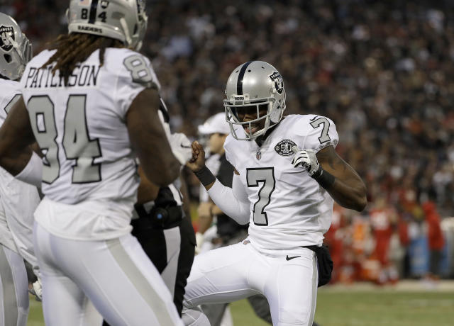 Punter Marquette King, cut by the Raiders this offseason, landed with the Denver Broncos, Oakland's AFC West rival. (AP)