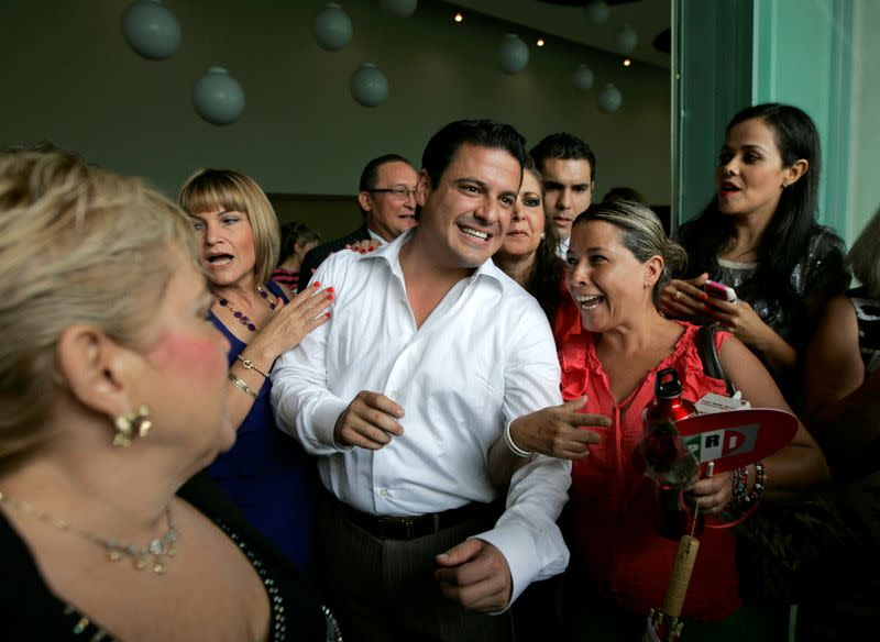 FILE PHOTO: Sandoval, governor candidate for the opposition PRI is greeted by supporters during a meeting with women in Guadalajara