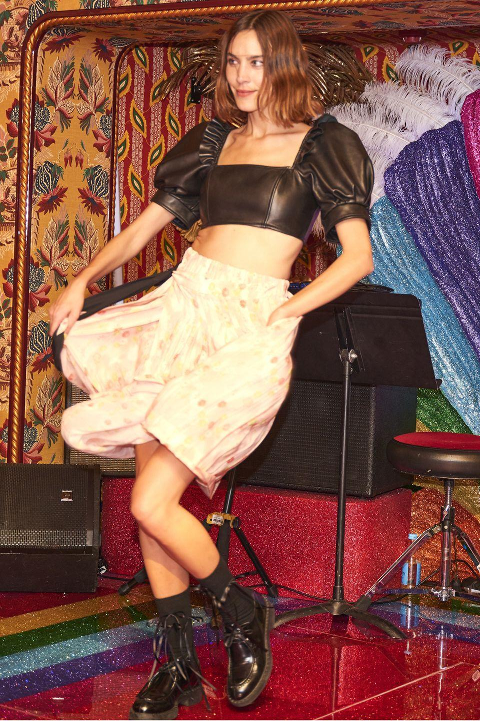 <p><strong>20 September</strong></p><p>Alexa Chung danced at the LouLou's re-launch party in a puff-sleeve top and flowing skirt. </p>