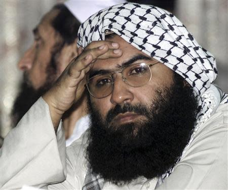 File photo of Maulana Masood Azhar attending a pro-Taliban conference organised by the Afghan Defence Council in Islamabad