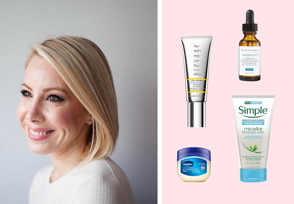 """<h1 class=""""title"""">Dr. Shari Marchbein; her favorite products on a pink background</h1><cite class=""""credit"""">Courtesy of Dr. Marchbein/Brittany Theophilus</cite>"""